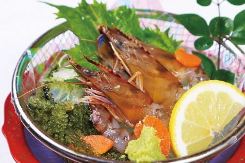 久米島産車海老のお刺身(3尾)の写真